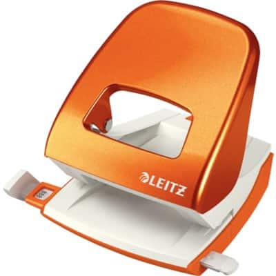 Leitz 2 Hole Punch 5008 Orange 30 Sheets