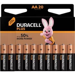 Duracell Battery Plus Power AA 20 pieces