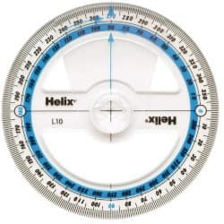 Helix Angle Measure L10040 Clear 25 pieces