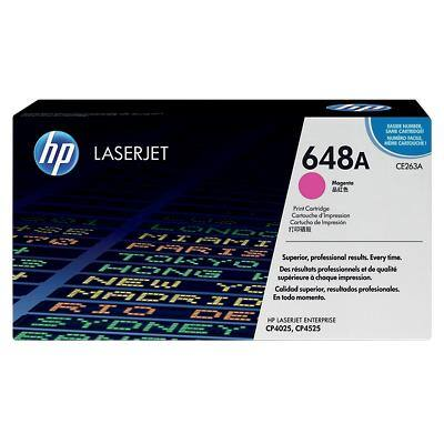 HP 648A Original Toner Cartridge CE263A Magenta
