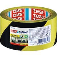 tesapack Signal Warning Tape 50 mm x 66 m Black - Yellow