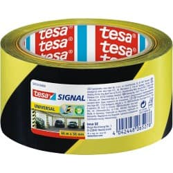 tesapack Marking Tape Signal 50 mm x 66 m Black, Yellow