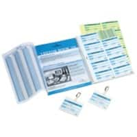 DURABLE Visitor Book Refill Pad 1466/00 White Ruled Perforated A4 9 x 6 cm 30 Sheets of 10 Pieces