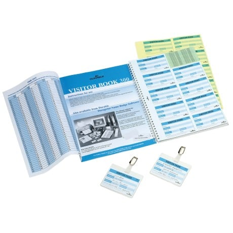 Durable visitor book refill pad 300 ( 300 Badge Inserts) 1466/00