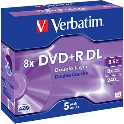 Verbatim DVD+R 8x 8.5 GB Pack of 5