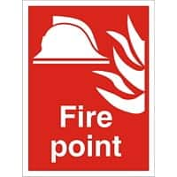 Fire Sign Fire Point Fluted Board 60 x 40 cm