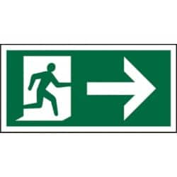 Exit right SAV sign 300 x 150 mm