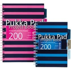 Pukka Navy A4 Project Book - Pink