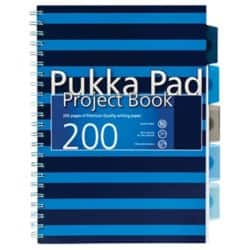 Pukka Navy A4 Project Book - Blue