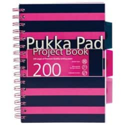 Pukka Navy A5 Project Book - Pink