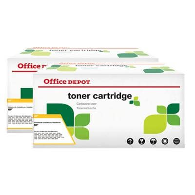 Office Depot Compatible HP 05X Toner Cartridge CE505XD Black 2 Pieces