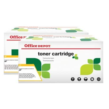 Office Depot Compatible HP 05X Toner Cartridge ce505x Black 2 pieces