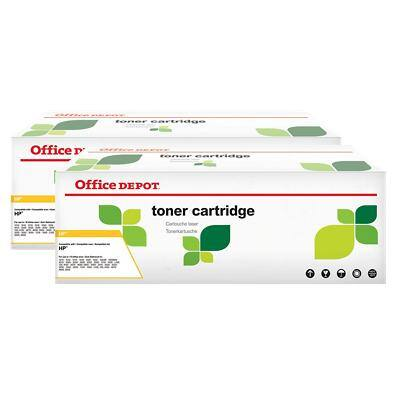 Compatible Office Depot HP 36A Toner Cartridge CB436A Black Pack of 2