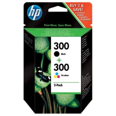 HP 300 Original Ink Cartridge CN637EE Black & 3 Colours 2 Pieces