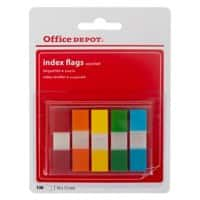 Office Depot Index Flags Assorted 1.2 x 10.5 x 4.5 cm 100 Strips