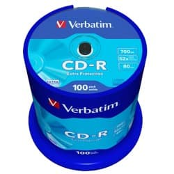Verbatim CD-R 700 MB 52X Spindle (Pack 100)