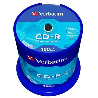 Verbatim CD-R 700 MB Pack of 100