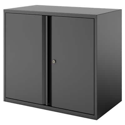Bisley Regular Door Cupboard Essentials Black 900 x 470 x 1,000 mm