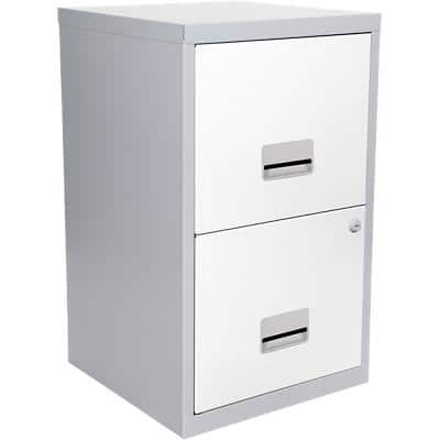 Pierre Henry Filing Cabinet Maxi Silver, White 400 x 400 x 660 mm