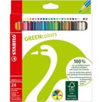 STABILO Colouring Pencils Green Colors Assorted 24 Pieces