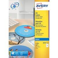 Avery Inkjet CD/Dvd Labels (100/pk)(J8676-100)