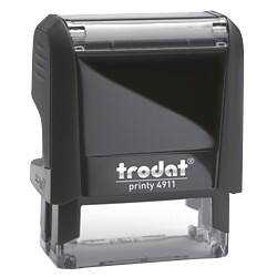 Trodat Custom Text Stamp 4911 Black 37 x 13 mm