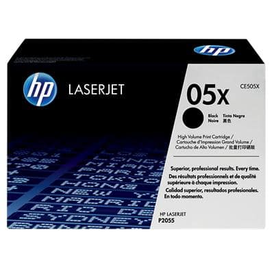 HP 05X Original Toner Cartridge CE505XD Black Pack of 2