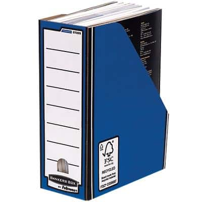 BANKERS BOX®  Premium Magazine File Blue - Pack of 10