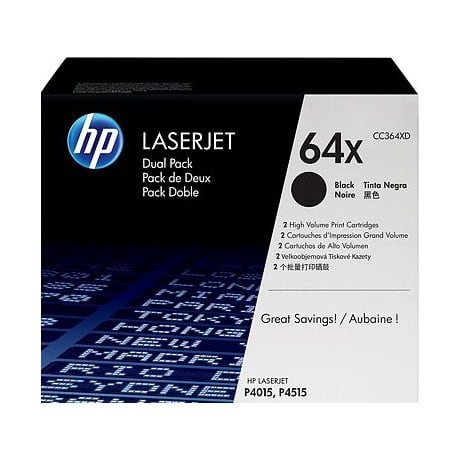 HP 64X Original Toner Cartridge CC364XD Black 2 pieces