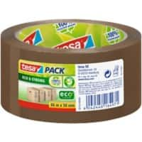 tesapack Eco & Strong, PP Packaging Tape Brown 56 microns 5 cm x 66 m