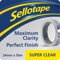 Sellotape Super Clear Tape Easy Tear Polypropylene 24mm x 50m Transparent
