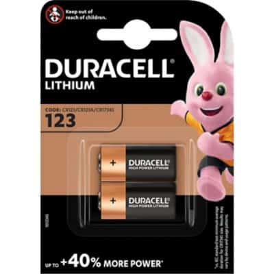 Duracell Battery DUR020320 CR123 2 Pieces