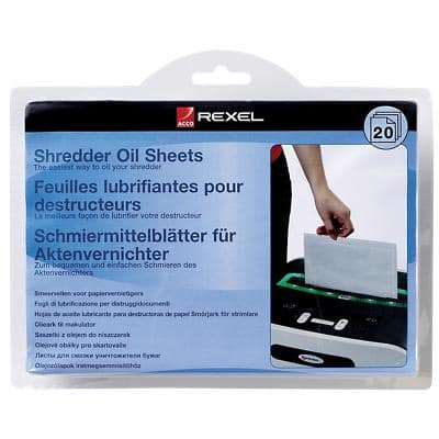 Rexel Shredder Oil Sheets 20 Pieces