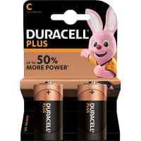 Duracell C Alkaline Batteries Plus Power MN1400 LR14 1.5V Pack of 2
