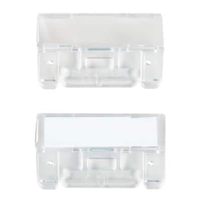 Niceday File Tabs Clear Plastic 6.5 x 2.5 cm 50 Pieces