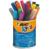 BIC Felt Tip Pens Kids Assorted Pack of 18