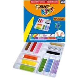 Bic Kids Plastidecor Jumbo Colouring Crayons - Class Pack of 288