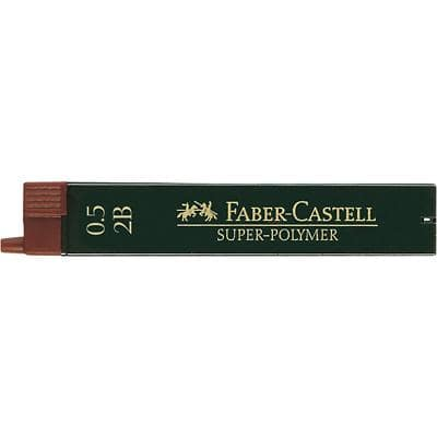Faber-Castell Pencil Leads Refill Super Polymer 0.5 mm 2B Grey Pack of 12