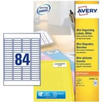 Avery L7656-25 Mini Multipurpose Labels Self Adhesive 46 x 11.1 mm White 84 Sheets of 25 Labels