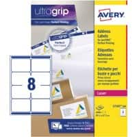 Avery L7165-500 Parcel Labels Self Adhesive 99.1 x 67.7 mm White 500 Sheets of 8 Labels