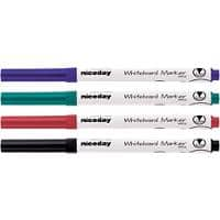 Niceday WBS2 Whiteboard Marker Medium Bullet Assorted Pack of 4