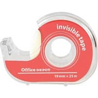 Office Depot Tape + Dispenser Clear Invisible 19 x 52 x 52mm