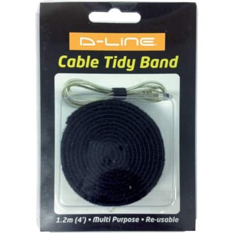 D-Line Cable Tidy Band Black 20 x 1,200 mm