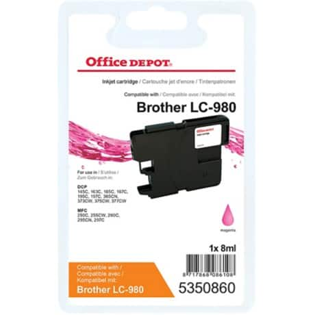 Office Depot Compatible Brother LC980M Ink Cartridge Magenta