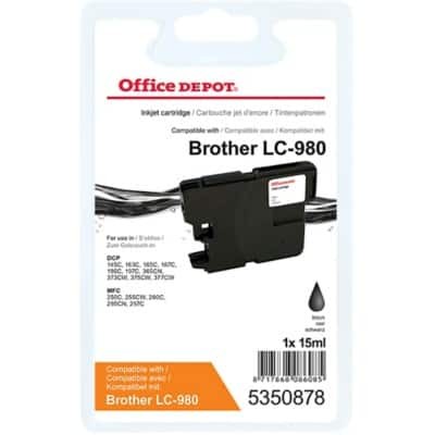 Office Depot Compatible Brother LC980BK Ink Cartridge Black