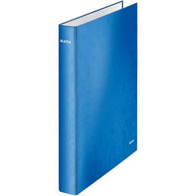 Leitz Ring Binder 2 Rings 25 mm Manila Cardboard Blue