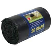 Maxima-Green Refuse Sacks 120L Black Pack of 20