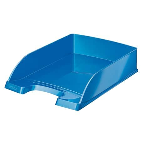 Leitz  WOW Letter Tray, Metallic Blue