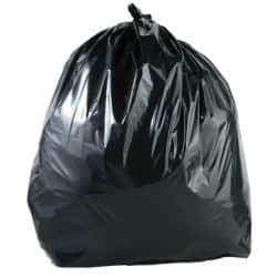 Light-duty wheelie bin liner black 240 L 100 per box