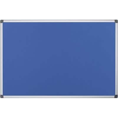 Office Depot Notice Board Aluminium Frame Blue 900 x 1200 mm